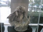 A statue of Arthas, the Lich King, at Blizzard HQ