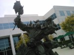 The Thrall as Warchief statue outside of Blizzard HQ in Irvine, CA.